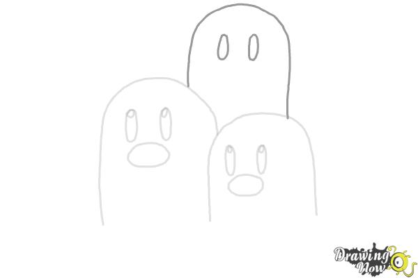 How to Draw Dugtrio from Pokemon - Step 5