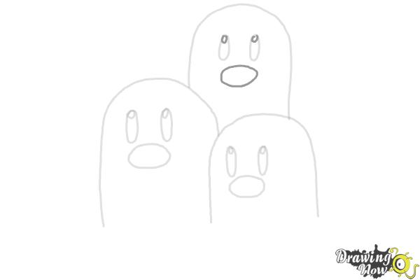 How to Draw Dugtrio from Pokemon - Step 6