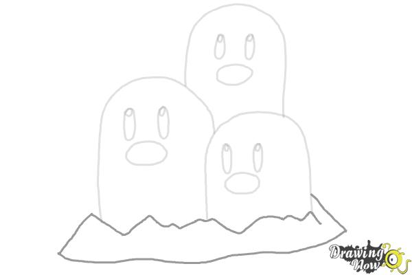 How to Draw Dugtrio from Pokemon - Step 7