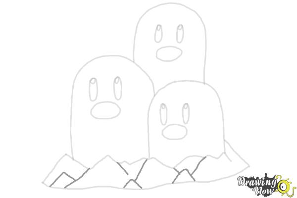 How to Draw Dugtrio from Pokemon - Step 8