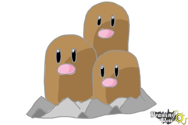 How to Draw Dugtrio from Pokemon - Step 9