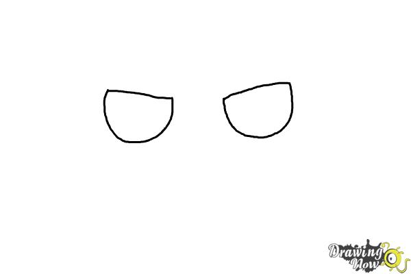 How to Draw a Grumpy Cat - Step 1