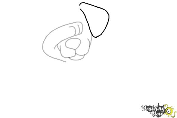How to Draw a Cute Dog Dabbing - Step 5
