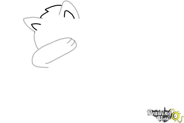 How To Draw A Cute Cat Dabbing Drawingnow