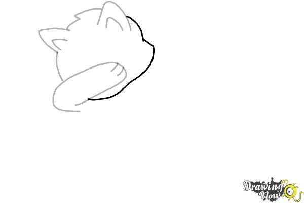 How to Draw a Cute Cat Dabbing - Step 5