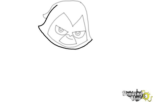 How to Draw Chibi Raven | Teen Titans - Step 7
