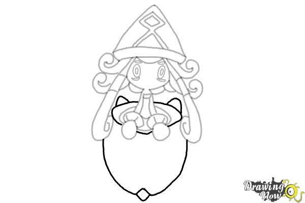 How to Draw Tapu Lele Pokemon - Step 10
