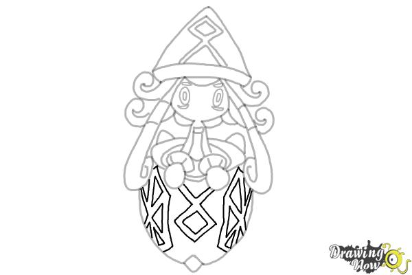 How to Draw Tapu Lele Pokemon - Step 11
