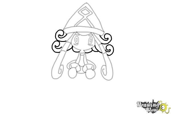 How to Draw Tapu Lele Pokemon - Step 9