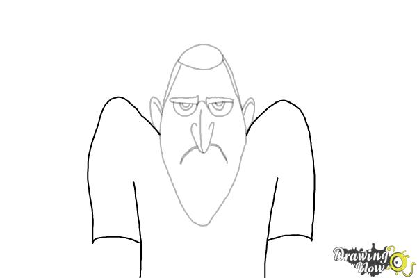 How to Draw Drac from Hotel Transylvania 3 - Step 6