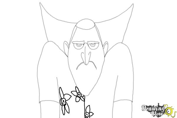 How to Draw Drac from Hotel Transylvania 3 - Step 8