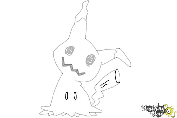 How To Draw Mimikyu Pokemon Drawingnow