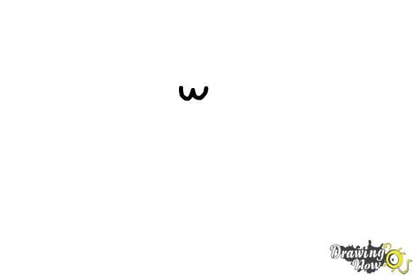 How to Draw Kawaii Cat - Step 1