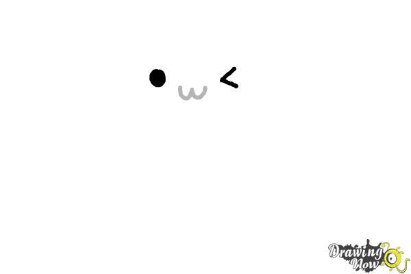 How to Draw Kawaii Cat - Step 2