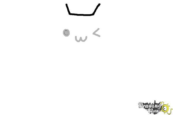 How to Draw Kawaii Cat - Step 3