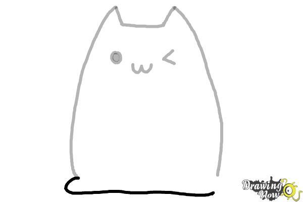 How to Draw Kawaii Cat - Step 5