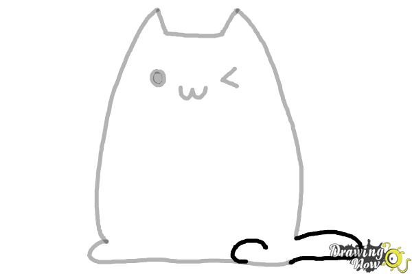 How to Draw Kawaii Cat - Step 6