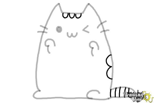 How to Draw Kawaii Cat - Step 9