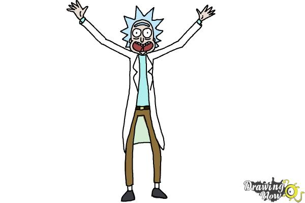 How to Draw Rick and Morty - Rick Sanchez - Step 11