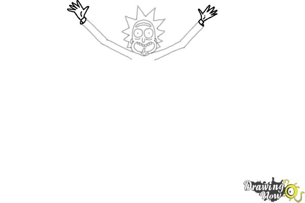 How to Draw Rick and Morty - Rick Sanchez - Step 7