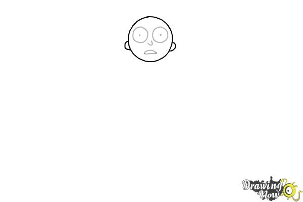 How to Draw Rick and Morty - Morty Smith - Step 3
