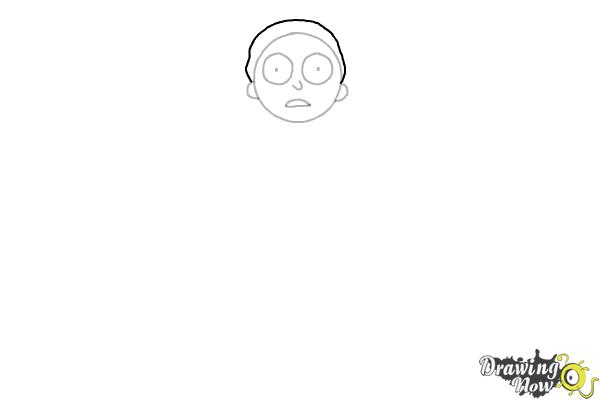 How to Draw Rick and Morty - Morty Smith - Step 4