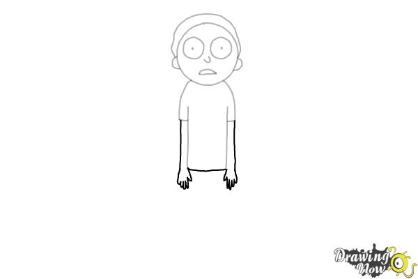 How to Draw Rick and Morty - Morty Smith - Step 6