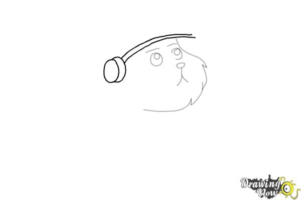 How to Draw Snowball from Rick and Morty - Step 4