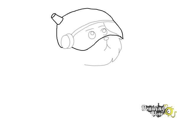 How to Draw Snowball from Rick and Morty - Step 5