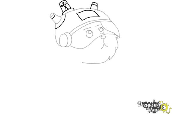 How to Draw Snowball from Rick and Morty - Step 6