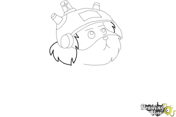 How to Draw Snowball from Rick and Morty - Step 7