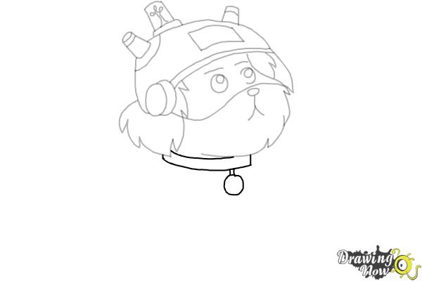 How to Draw Snowball from Rick and Morty - Step 8