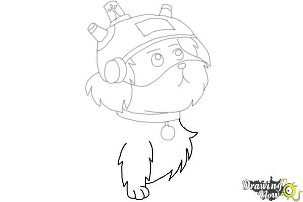 How to Draw Snowball from Rick and Morty - Step 9