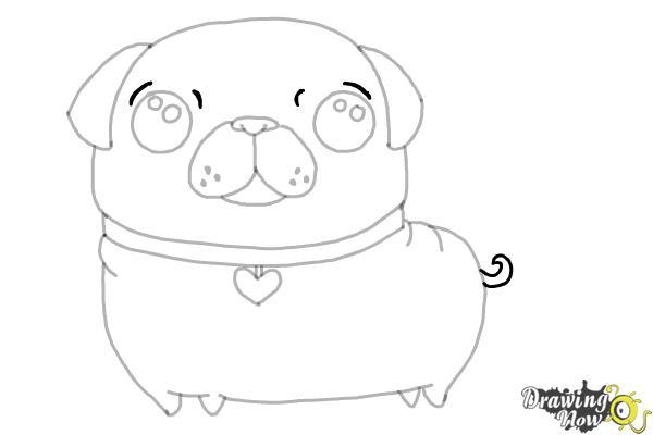 How to Draw a Kawaii Dog - Step 10