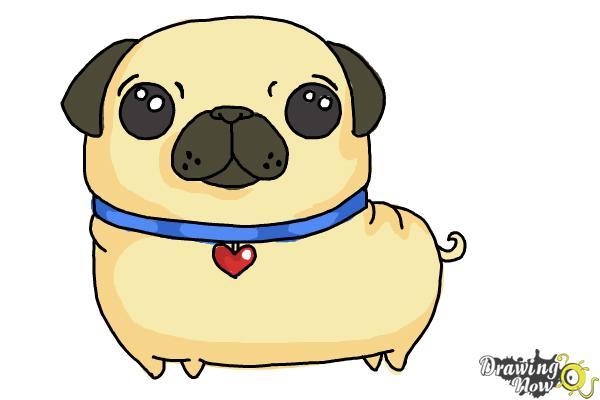 How to Draw a Kawaii Dog - Step 11