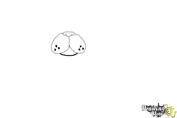 How to Draw a Kawaii Dog - Step 3