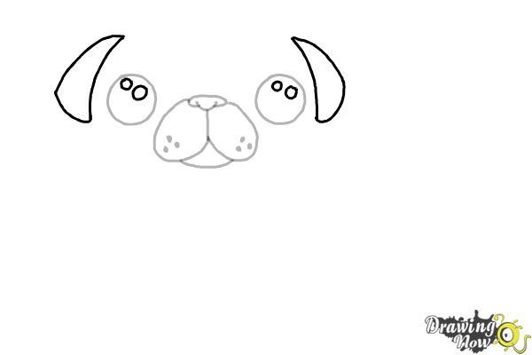 How to Draw a Kawaii Dog - Step 5