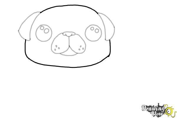 How to Draw a Kawaii Dog - Step 6
