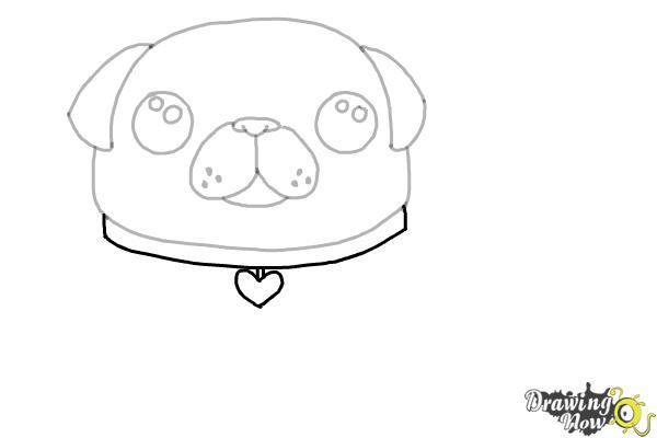 How to Draw a Kawaii Dog - Step 7