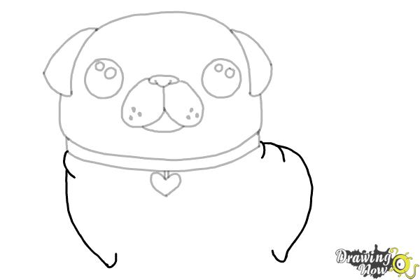 How to Draw a Kawaii Dog - Step 8