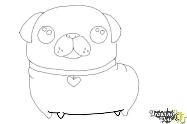 How to Draw a Kawaii Dog - Step 9