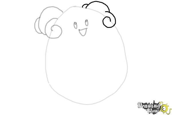 How to Draw Pokemon - Blissey - Step 4