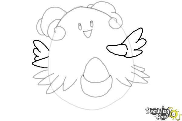 How to Draw Pokemon - Blissey - Step 7