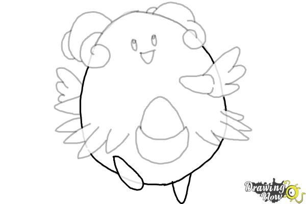 How to Draw Pokemon - Blissey - Step 8