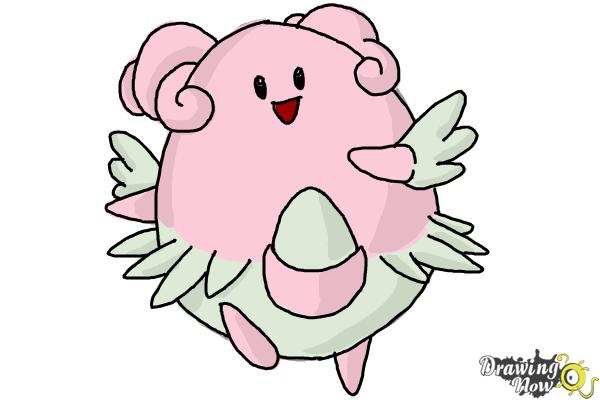 How to Draw Pokemon - Blissey - Step 9