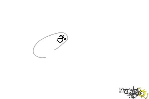 How to Draw Panda Dabbing - Step 2