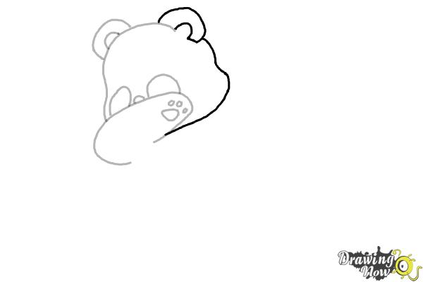 How to Draw Panda Dabbing - Step 5