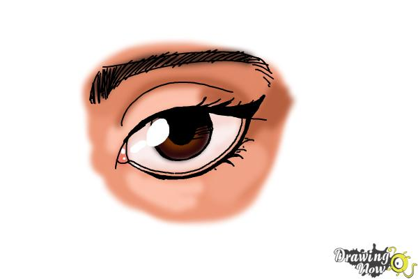 How to Draw an Eyeliner - Step 10
