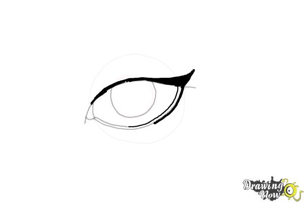 How to Draw an Eyeliner - Step 6