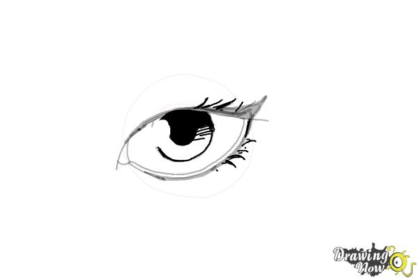 How to Draw an Eyeliner - Step 8